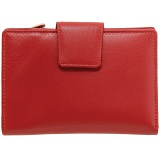 1642 Medium Zip Around Leather Tab Purse