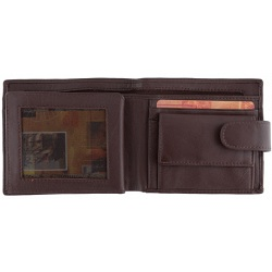 1642 Leather Notecase Wallet with Coin Pocket and Zip Note Section