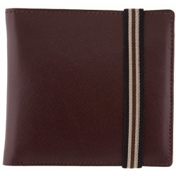 1642 Leather Two Fold Notecase Wallet with Elastic Fastener