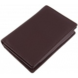1642 Leather Flap Over Business Card Holder