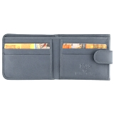 1642 Leather Two Fold Notecase Wallet with Rear Coin Pocket