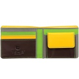 1642 Multi Colour Two Fold Leather Wallet with Coin Pocket (Brown)