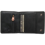 1642 Three Fold Leather Wallet with Press Stud Fastening
