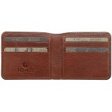 1642 Vachetta Two Fold Leather Credit Card Holder / Note Wallet