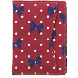 1642 Polka Travel Pass / Oyster Card Holder Wallet (Bow Print)