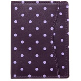 1642 Polka Travel Pass / Oyster Card Holder Wallet (Purple)