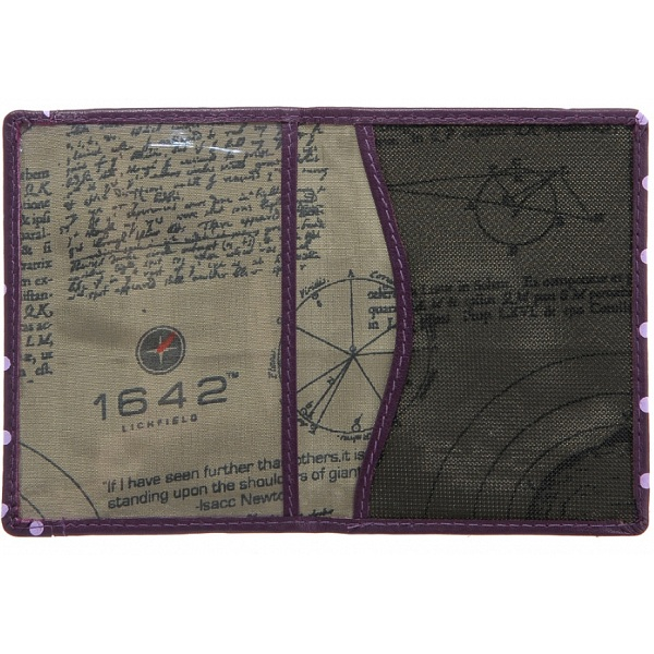 1642 Polka Travel Pass Oyster Card Holder Wallet Purple