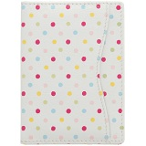 1642 Polka Dots Travel Pass / Oyster Card Holder Wallet (White)