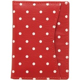 1642 Polka Travel Pass / Oyster Card Holder Wallet (Red)