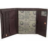 1642 Leather A4 Flap Over Conference Folder / Portfolio / Folio