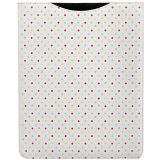 1642 Polka Dots iPad Sleeve / Leather Apple iPad Case (White)