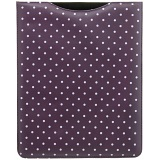 1642 Polka Dots iPad Sleeve / Leather Apple iPad Case (Purple)