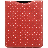 1642 Polka Dots iPad Sleeve / Leather Apple iPad Case (Red)