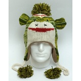 Animal Beanies Green Monster Woollen Adult / Kids Winter Beanie Cap / Hat
