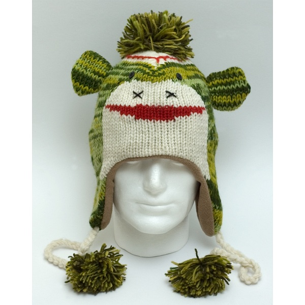 Animal Beanies Green Monster Woollen Adult   Kids Winter Beanie Cap   Hat ec5793e5d14a