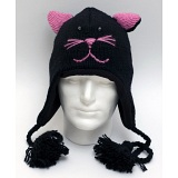 Animal Beanies Black Cat Woollen Adult / Kids Winter Beanie Cap / Hat