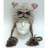 Animal Beanies Grey Mouse Woollen Adult / Kids Winter Beanie Cap / Hat