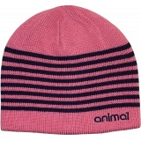 Animal Dillera Womens Reversible Pink / Navy Winter Beanie Hat