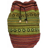 Baeres Woven Bucket Bag / Shoulder Bag with Shell Tassels