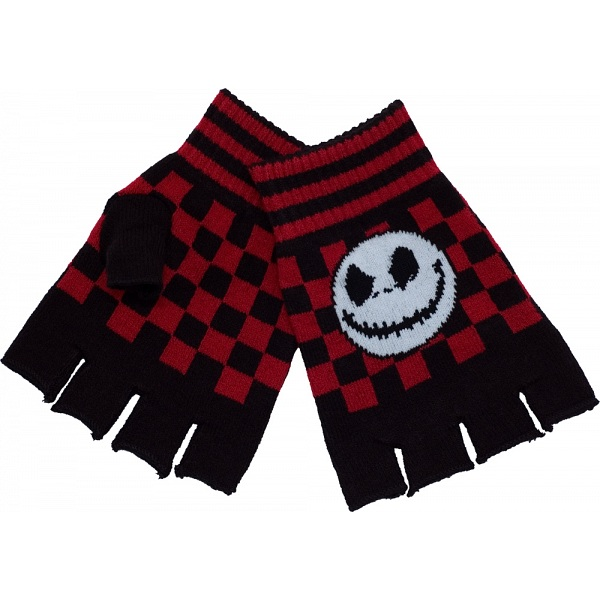 The Nightmare Before Christmas Check Fingerless Winter Gloves / NBX ...