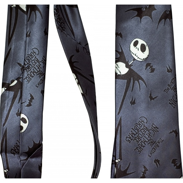 The Nightmare Before Christmas Navy Necktie / Tie / NBX / NBC
