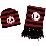 The Nightmare Before Christmas Red Winter Beanie and Scarf Set / NBX / NBC