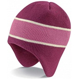 Beechfield Mulberry Pink Heavy Gauge Knitted Peru Winter Beanie Cap