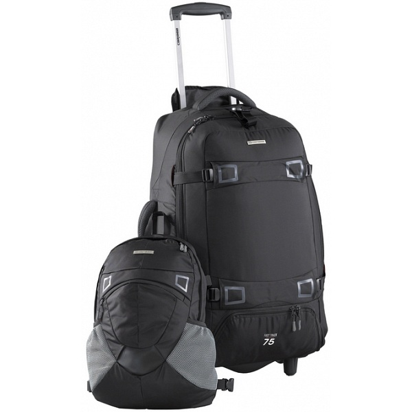 caribee fast track 75 wheeled trolley backpack rucksack. Black Bedroom Furniture Sets. Home Design Ideas