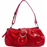 Charley Clark Small Red Faux Leather Grab Handbag / Shoulder Bag