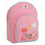 Peppa Pig Friends Forever Childrens Bag / Kids Pink Backpack / Rucksack