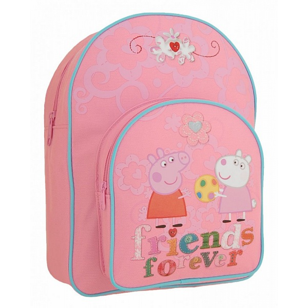 Peppa Pig Friends Forever Childrens Bag Kids Pink