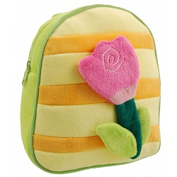 Yum Yum Childrens Fluffy Flower Bag / Kids Backpack / Rucksack