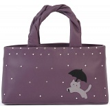 Ciccia Cat In The Rain Leather Grab Bag / Handbag