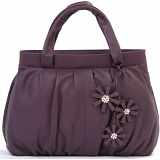Ciccia Hanging Flower Small Leather Grab Bag / Handbag
