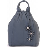 Ciccia Hanging Flower Leather Backpack / Rucksack