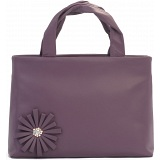 Ciccia Stitch Flower Leather Grab Bag / Handbag