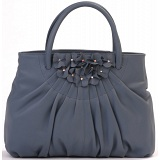 Ciccia Flower Cluster Leather Grab Bag / Handbag