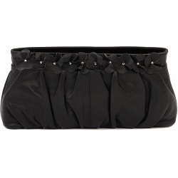 Ciccia Flower Cluster Leather Clutch Bag / Handbag