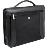 Gino Ferrari President A4 Zip Around Folio with Ring Binder and Handle