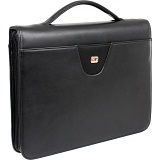Gino Ferrari Senator A4 Zip Around Folio with Ring Binder and Handle