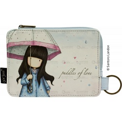 Gorjuss Puddles Of Love slim zip coin purse