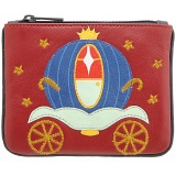 Harness Cinderellas Carriage Zip Top Applique Leather Coin Purse