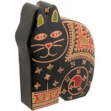 Harness Hand Painted Leather Cat Money Box