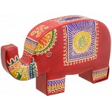 Harness Hand Painted Leather Elephant Money Box