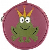 Harness Frog Prince Applique Circular Leather Coin Purse