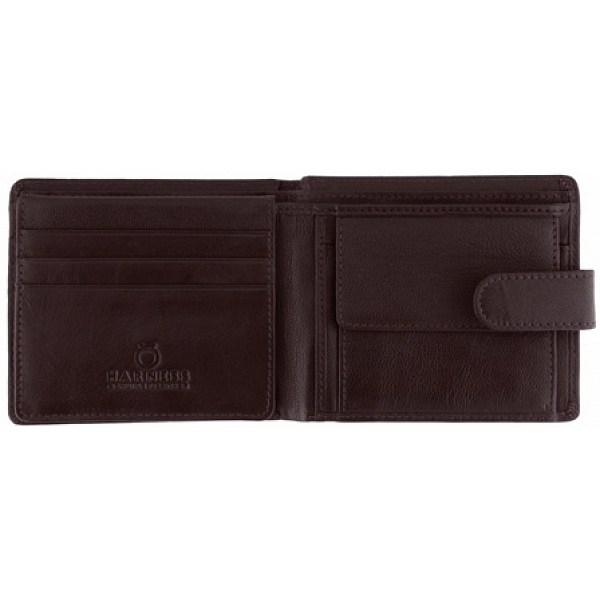 Harness Leather Notecase Wallet With Coin Pocket