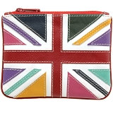 Harness Multi Colour Union Jack Applique Leather Coin Purse 2012