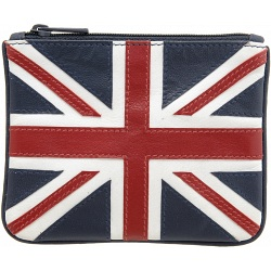 Harness Union Jack Applique Leather Coin Purse 2012