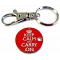 Keep Calm and Carry On Shopping Trolley Token / Locker Keyring