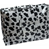 Lindy Lou Cow Print PVC Showerproof Shoulder Bag / Shopping Tote Bag
